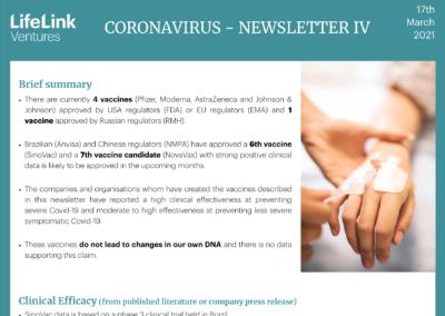 Coronavirus – LifeLink Newsletter IV